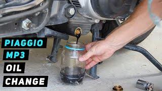 Cambio olio motore Piaggio MP3