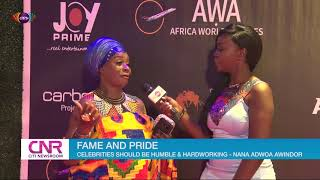 Nana Adwoa Awindor, formerly of Greetings from abroad, urges celebrities to be humble and work hard