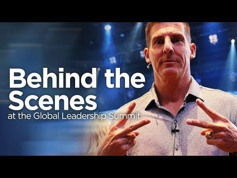 Backstage at the Global Leadership Summit