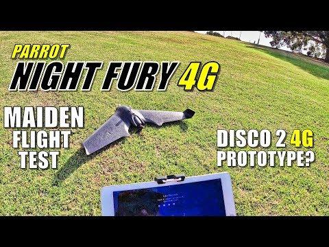 Parrot NIGHT FURY 4G LTE - Maiden Flight & Crash Test (Disco 2 Prototype!?) - UCVQWy-DTLpRqnuA17WZkjRQ