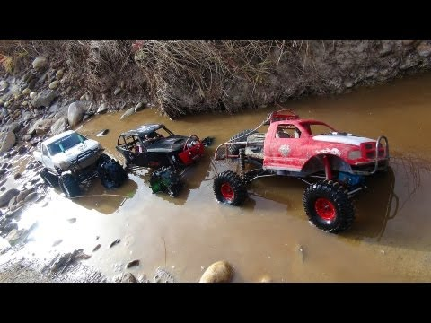 RC ADVENTURES - 3 Trail Trucks on a Fun Adventure - Group Trail Run - Scale 4x4 Trucks - UCxcjVHL-2o3D6Q9esu05a1Q