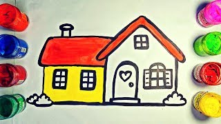 Comfortable House coloring & drawing for kids | Glitter | Kids | Toddlers | Colors
