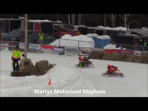 Semi Pro Formula 500 from Sunday February 16, 2020.  Check out my site: http://www.martysmotorizedmayhem Check out Bonnechere Cup: http://www.bonnecherecup.ca Check out Ontario Snowmobile Oval Racers: https://www.osorlife.ca/ - dirt track racing video image