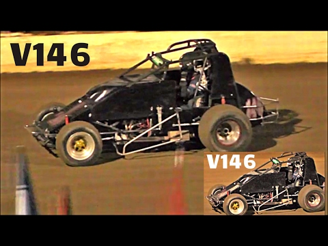 Wingless Sprints B-Main Final Front Row Challenge Simpson Speedway 18-2-2017 - dirt track racing video image