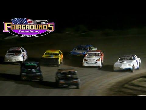 Fairgrounds Speedway IMCA Stock Car Main Event 8/14/21 - dirt track racing video image