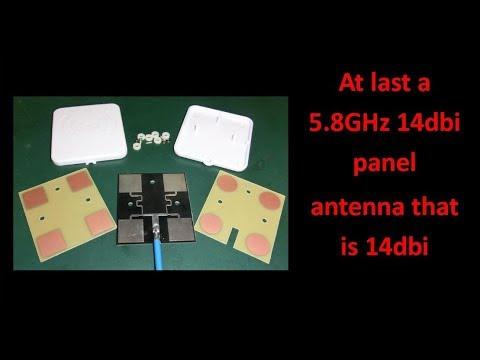 At Last a 5.8GHz 14dbi Panel Antenna that is 14dbi - UCHqwzhcFOsoFFh33Uy8rAgQ