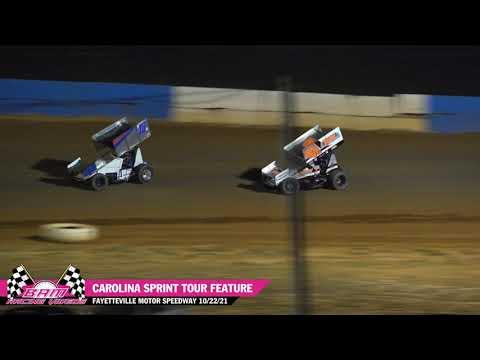 Carolina Sprint Tour Feature - Fayetteville Motor Speedway 10/22/21 - dirt track racing video image