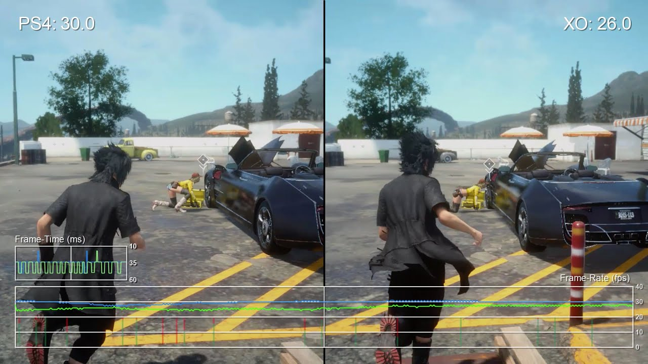 Final Fantasy 15 Demo 2.0 PS4 vs Xbox One Gameplay Frame-Rate Test ...