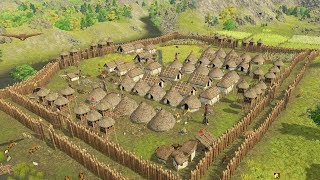 Double Wall Fortress is Unbreakable | Dawn of Man | Ep. 08 | City Building Warfare Gameplay