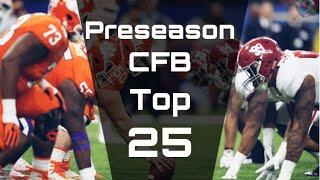 Preseason College Football Top 25