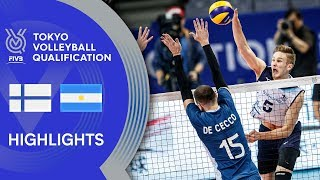 FINLAND vs. ARGENTINA - Highlights Men   Volleyball Olympic Qualification 2019
