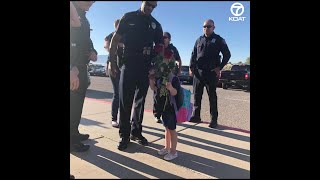 New Mexico officers honor late deputy making daughter's first day at school extra special