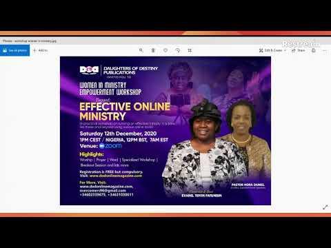PREPARED UNTO EVERY GOOD WORKS PART 2 - WOMEN IN MINISTRY PROGRAM