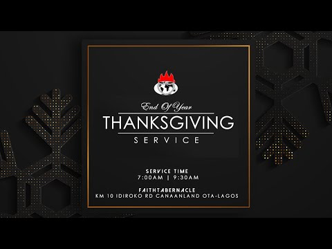 DOMI STREAM : END OF THE YEAR SPECIAL THANKSGIVING SERVICE  27, DEC. 2020  FAITH TABERNACLE OTA