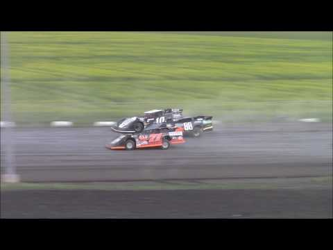 WISSOTA Late Models Feature Red River Co op Speedway June 22, 2017 - dirt track racing video image