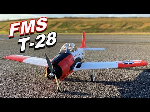 "T-28 Trojan 1400mm 55"" Warbird FMS RC Plane w/ Retracts MAIDEN FLIGHT - TheRcSaylors - UCYWhRC3xtD_acDIZdr53huA"