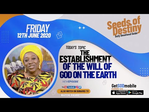 Dr Becky Paul-Enenche - SEEDS OF DESTINY  FRIDAY JUNE 12, 2020