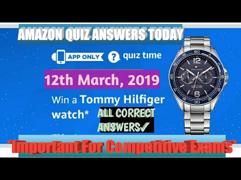 Amazon quiz answers today || win a tommy Hilfiger watch
