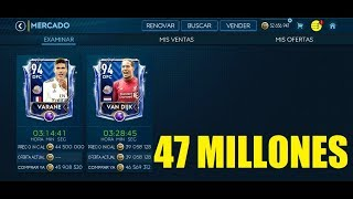 FIFA MOBILE 19 ¡FICHAJE DE 47 MILLONES DE MONEDAS Y LE SUBO RANGO!