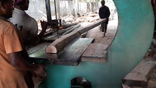 Long but Thin Teak Wood Cutting to Small Size at Old Saw Mill।Teak Wood in Urgent Sell।Cutting Teak