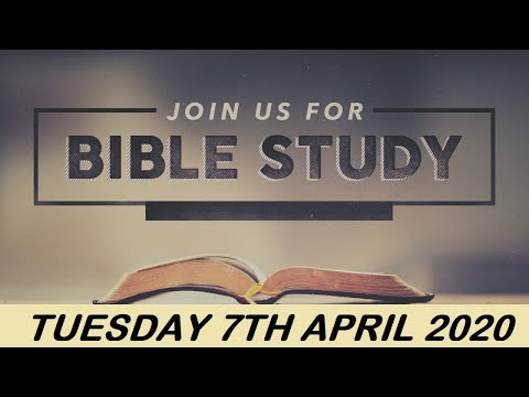 RCCG APRIL 7th 2020 BIBLE STUDY  WHY WORRY ?