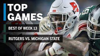Top Games of 2018: Week 13 | Rutgers Scarlet Knights vs. Michigan State Spartans | B1G Football