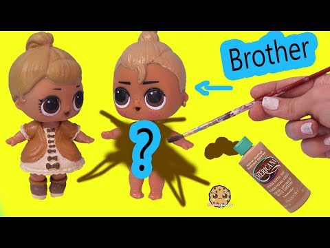 LOL Surprise Boy Peanut Butter & Jelly Brother Doll DIY Craft Makeover Painting Video - UCelMeixAOTs2OQAAi9wU8-g
