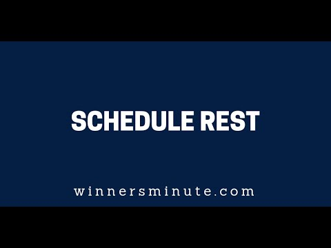 Schedule Rest  The Winner's Minute With Mac Hammond