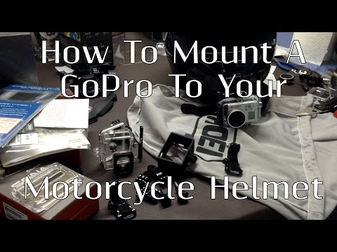 How To Mount A GoPro Hero 3 To A Motorcycle Helmet