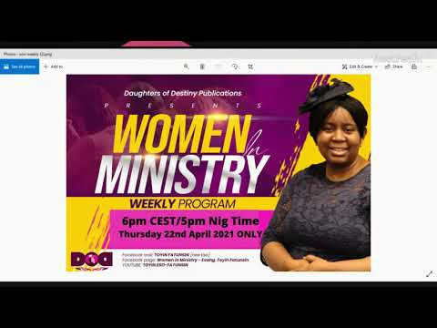 WOMEN IN MINISTRY WEEKLY PROGRAM - GOING THROUGH THE PROCESS