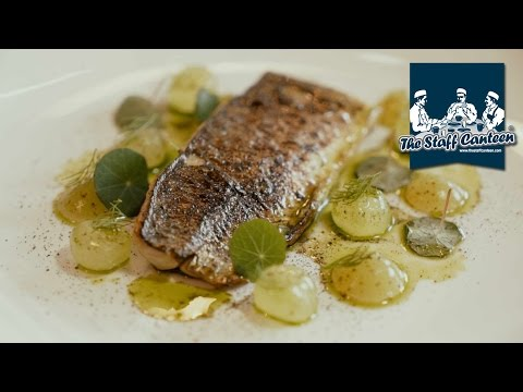 Michelin star chef Simon Hulstone creates a Devon crab and flamed mackerel dish with Kikkoman