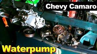 1995 chevrolet camaro v6 waterpump youtube Camaro V10 Engine
