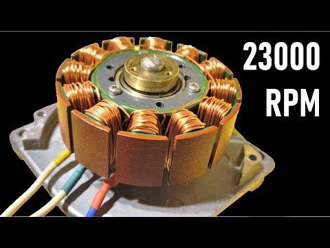 23000 RPM - Reuse 24V Super High Speed DC Motor from DEAD Printer - Brushless BLDC Motors