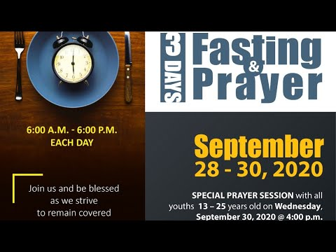 September 30, 2020 Fasting Day 3 Prayer Meeting