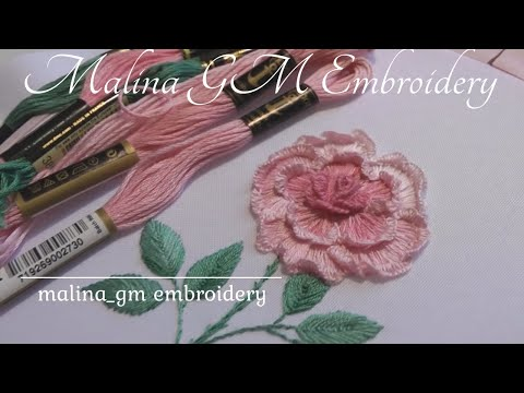 Garden roses.Embroidery for beginners | new desing | flower embroidery tutorial