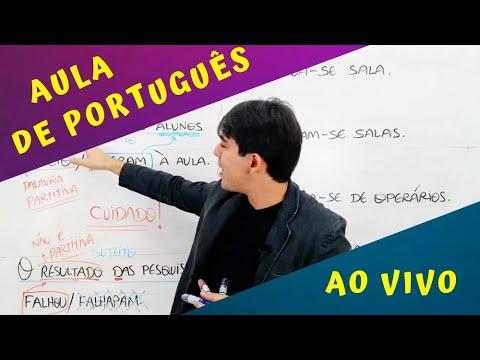 AULA DE PORTUGUÊS AO VIVO