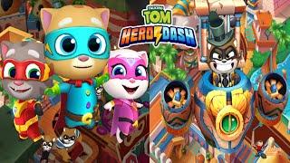 RUN!RUN!RUN!Talking Tom Hero Dash Tom,Ginger,Hank Build Rescue Unlocked Talking Ben Android Gameplay
