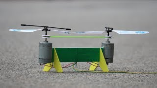 How to make a Helicopter Drone | Rubber band Helicopter Drone