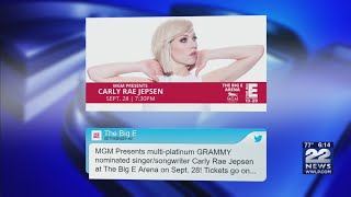 Carly Rae Jepsen to perform at The Big E