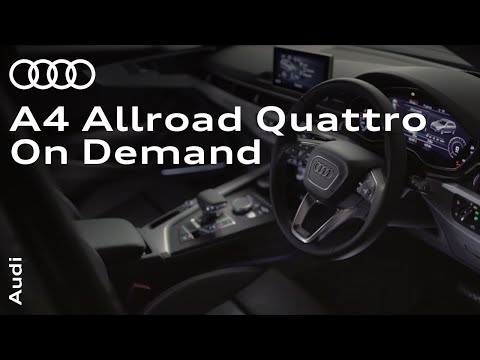 The all-new Audi A4 allroad quattro: All-wheel drive on demand.