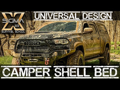 Camper Shell Bed Platform for any truck, Removable & Simple