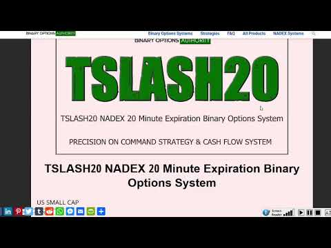 TSLASH20 NADEX 20 Minute Expiration Binary Options System Review