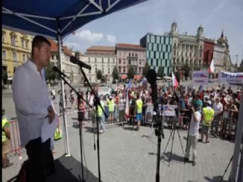 Tomio Okamura: Projev na demonstraci SPD v Brně 25.6.2016