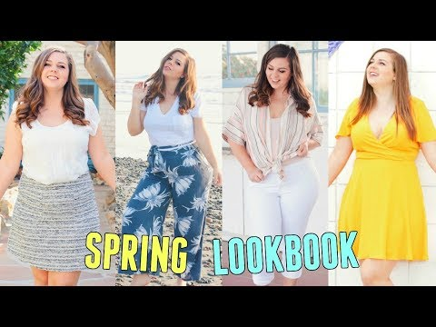 CURVY SPRING LOOKBOOK 2018! Spring Outfit Ideas For Curvy Girls!
