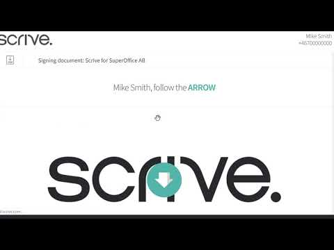 Scrive eSign for SuperOffice