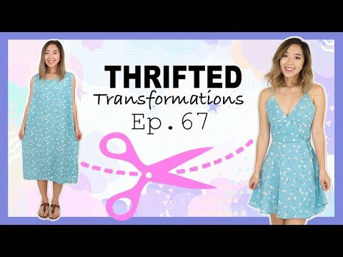 DIY Wrap Dress | Thrifted Transformations Ep. 67