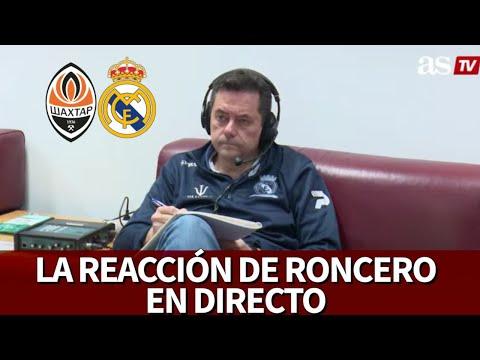 SHAKHTAR VS REAL MADRID  RONCERO EN DIRECTO I Diario AS