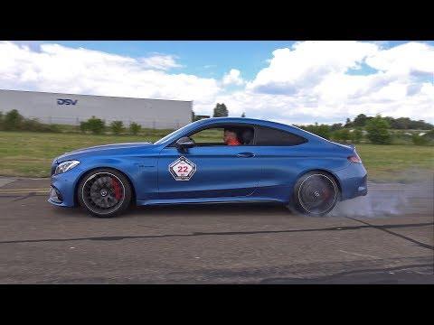 600HP Mercedes-AMG C63 S Coupé! BURNOUT & DRAG RACE!