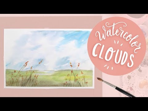 How To Paint Watercolor Clouds (Wispy, Realistic Tutorial)