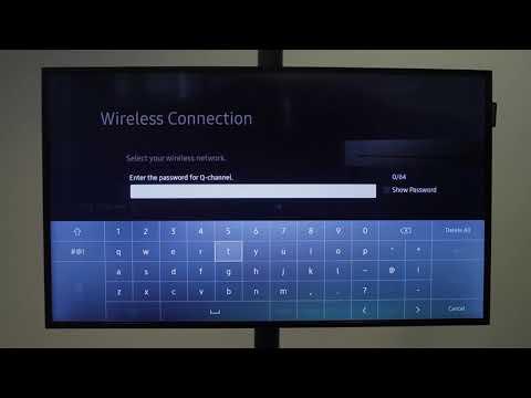Anslut till Wifi med smart- tv modell 2